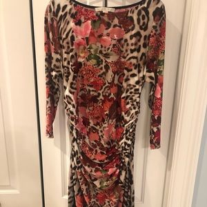 Boston Proper pink floral midi dress size 16